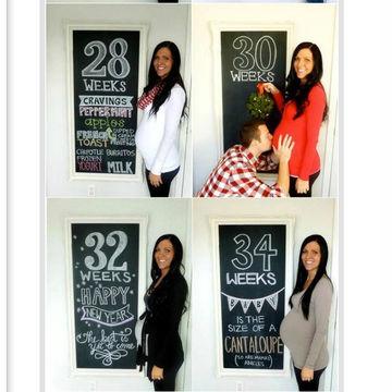 Chalkboard - Pregnancy Week by Week