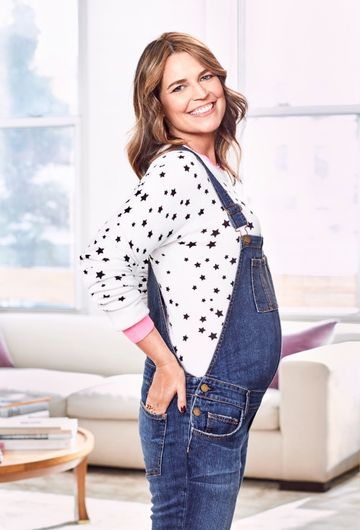 Savannah Guthrie November Fit Pregnancy Overalls Belly