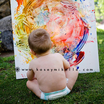 Start a Painting Tradition - Outdoor Activities for Babies