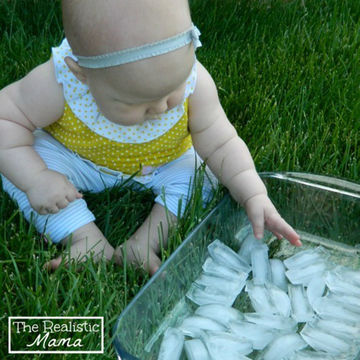 Baby Sensory Ice - outdoor activity with baby