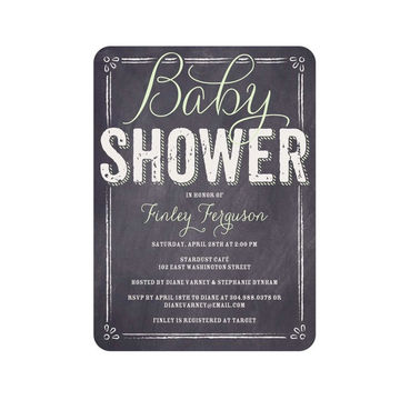 Traditional baby shower invites with a modern twist fit pregnancy chalkboard filmwisefo