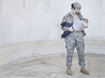 Military Mom Breastfeeding