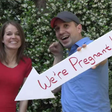 Cinematic Pregnancy Reveal Couple