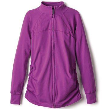 purple zip jacket