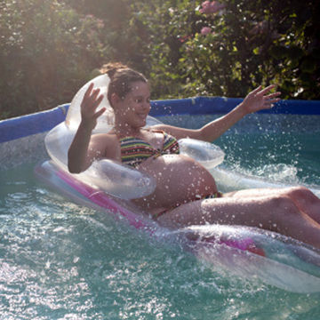pregnant woman in a pool