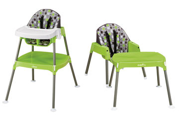 Highchairs Green Evenflo 3 in 1 High Chair to Play Table