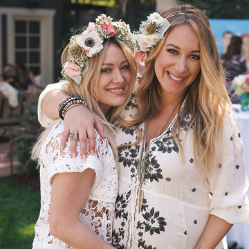 Hilary Duff and Haylie Duff at baby shower