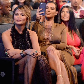 Chrissy Teigen Gets Pregnancy Advice From Kim Kardashian