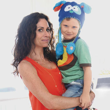 Minnie Driver with her son Henry