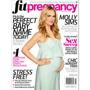 Molly Sims Fit Pregnancy cover model