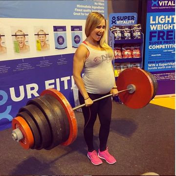 Meet the Pregnant Weightlifter Star of Instagram