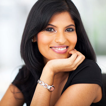 Confident young South-Asian woman