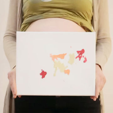 Watch Fetuses Create Art with Belly Paintbrushes