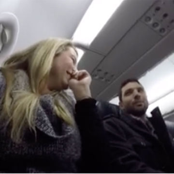 Woman Surprises Husband With Inflight Pregnancy Reveal