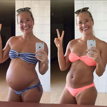 Pregnancy Weightlifter Boasts Six Pack 10 Weeks After Baby