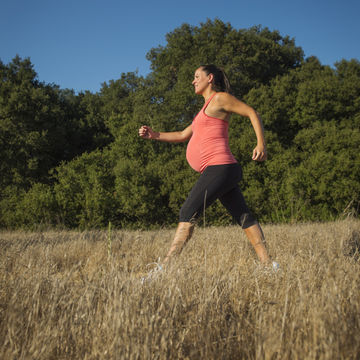 Woman Running While Pregnant