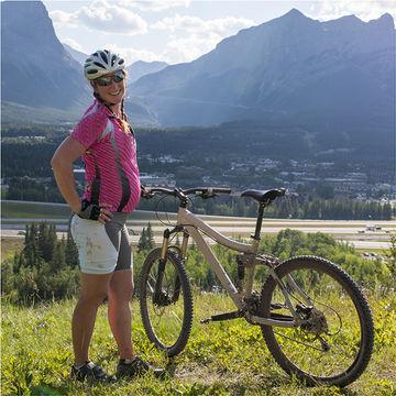 pregnant mountain biker