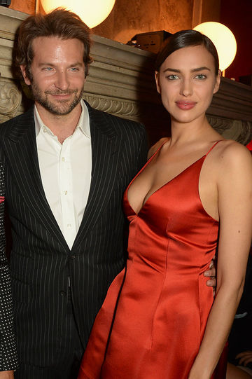 Bradley Cooper and Irina Shayk attend the Red Obsession party