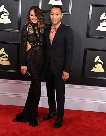 Chrissy Teigen and John Legend at the Grammy's
