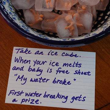 Baby in an Ice Cube Baby Shower Game