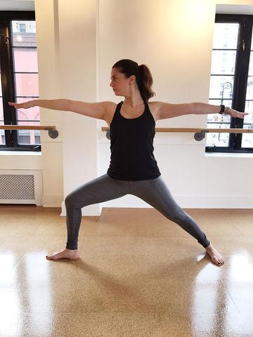 prenatal barre workout-Warrior II Pose