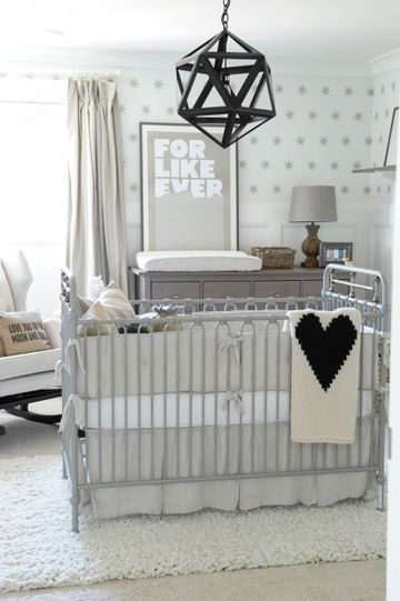 gray and black nursery