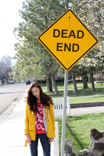 Infertility Announcement with a Dead End Sign