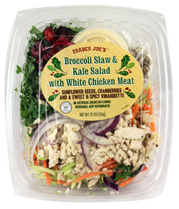 Trader Joe's Broccoli Slaw & Kale Salad With White Meat Chicken