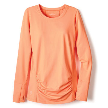 peach long sleeved top