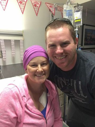 Breast Cancer Survivor WIth Husband