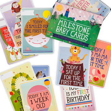 Milestone Baby Cards - commemorate baby's firsts!