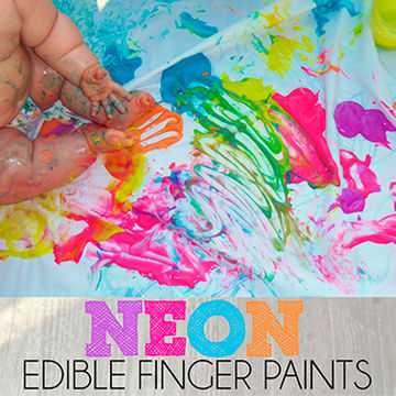 Edible Finger Painting - Outdoor Activity with Baby