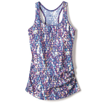 print racer back tank top