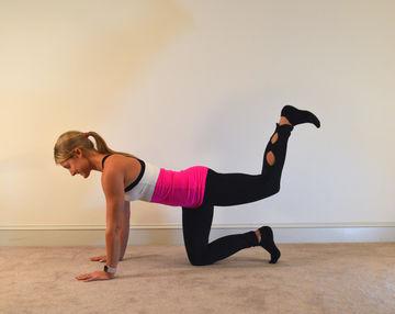 quadruped glutes-barre workout