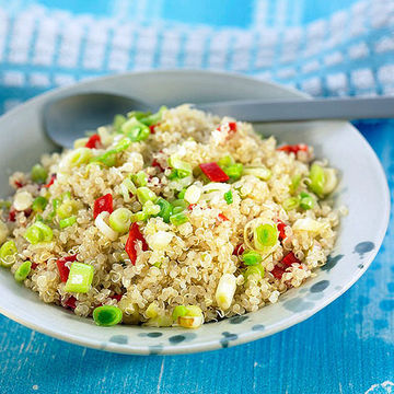 Lemony Quinoa Pilaf with Cauliflower and Pine Nuts