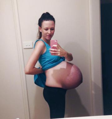 Mine, Pregnant labor porn