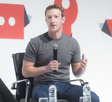 Mark Zuckerberg Speaking at a Conference in 2015