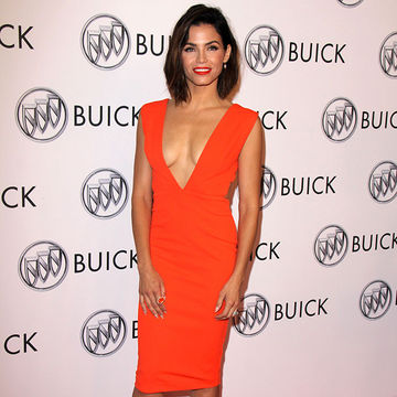 Jenna Dewan Tatum orange dress