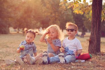 16 Crazy Baby Names Three Cool Kids Sitting Outside