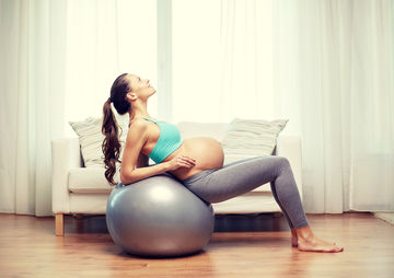 Pregnant Exercise on a Ball
