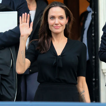 Angelina Jolie Waving at Conference