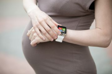 Pregnant woman using app to help companies manage working moms
