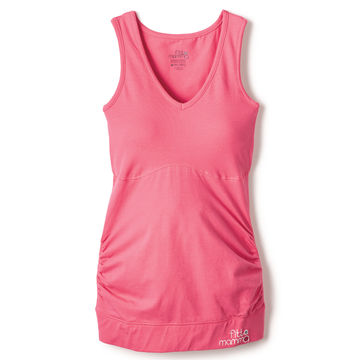 pink structured tank top