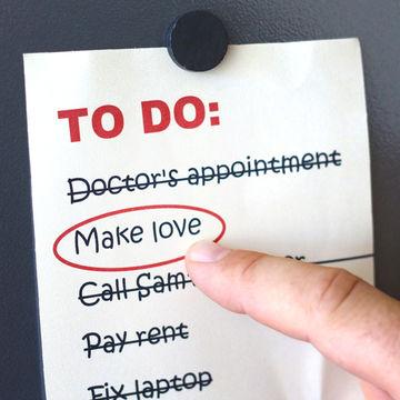 make love listed on a to-do list