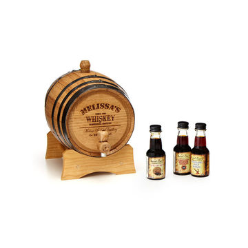 Personalized whiskey barrel for dad