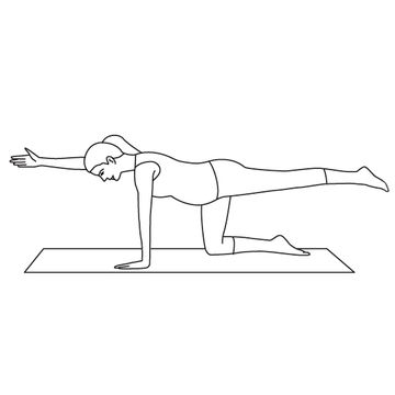 Bird dog yoga pose