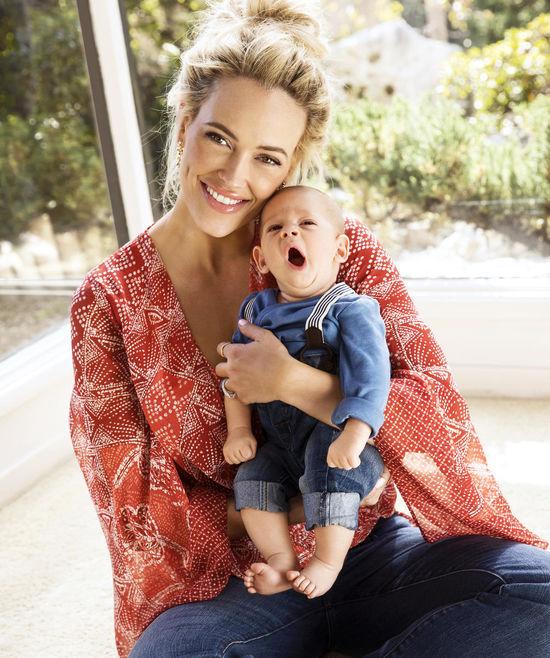 Peta Murgatroyd and Baby Shai Yawning Sitting