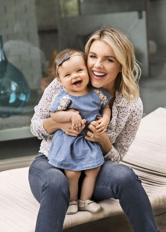 Ali Fedotowsky And Daughter Molly Laughing