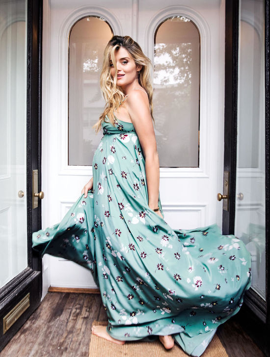 Daphne Oz Blue Floral Flowy Dress Spin