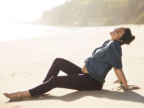 Emily Skye Laying On Beach
